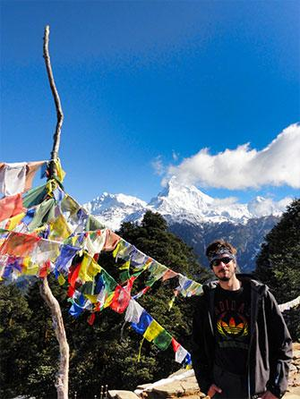 Finishing the Poon Hill track in Nepal