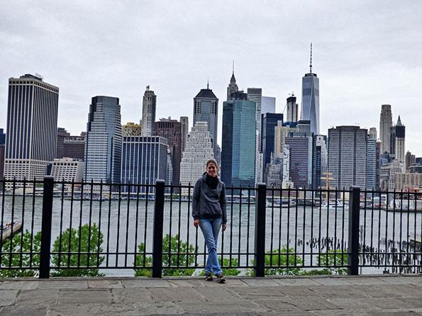 The view of Manhattan from Brooklyn bridge park