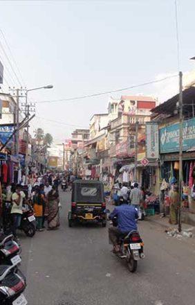 Busy streets of Thiruvananthapuram (Trivandrum)
