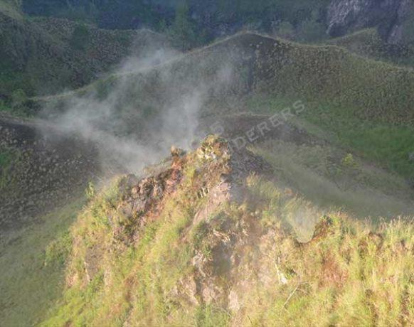 Volcanic steam on Mount Batur