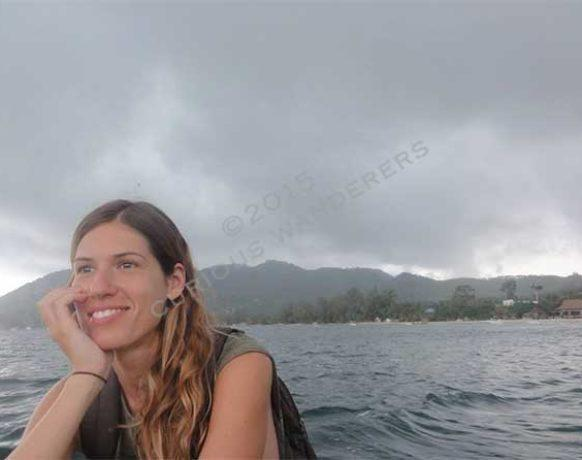 The very promising weather at beginning of our snorkeling trip in Koh Tao
